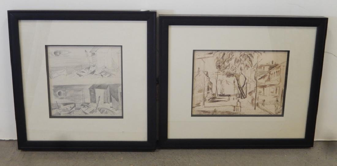 Earl Horter a pen and ink and a graphite drawing