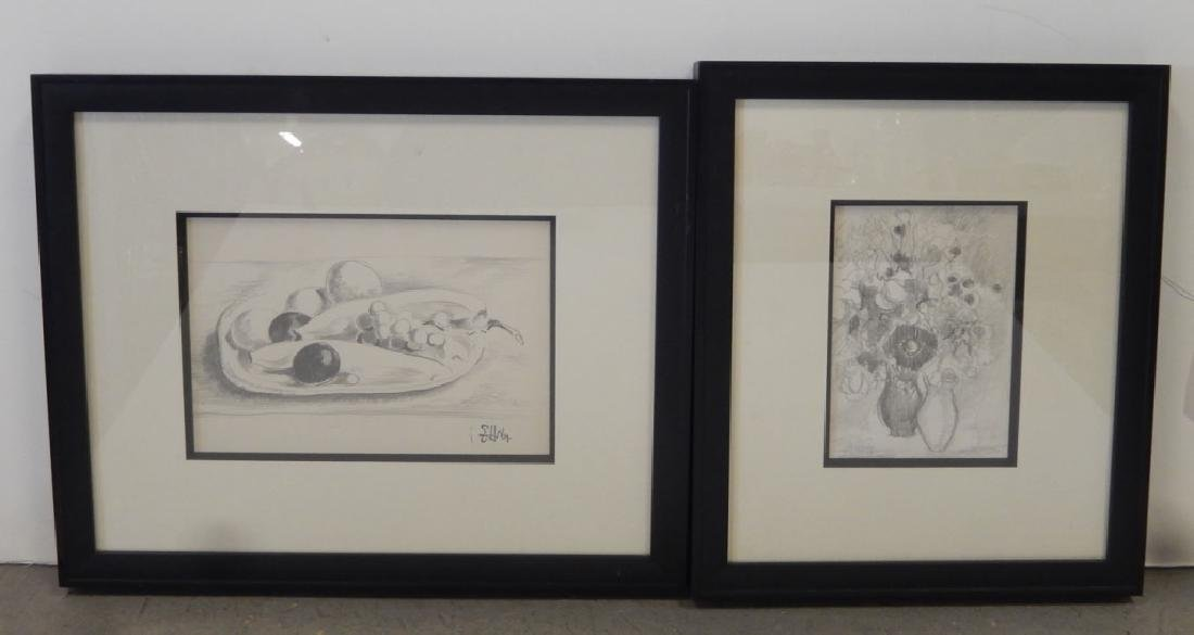 Earl Horter   two graphite drawings on paper