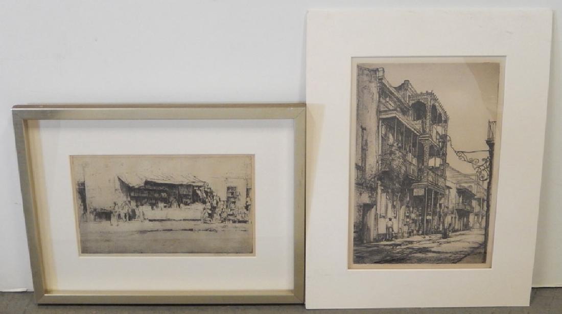 Earl Horter two etchings