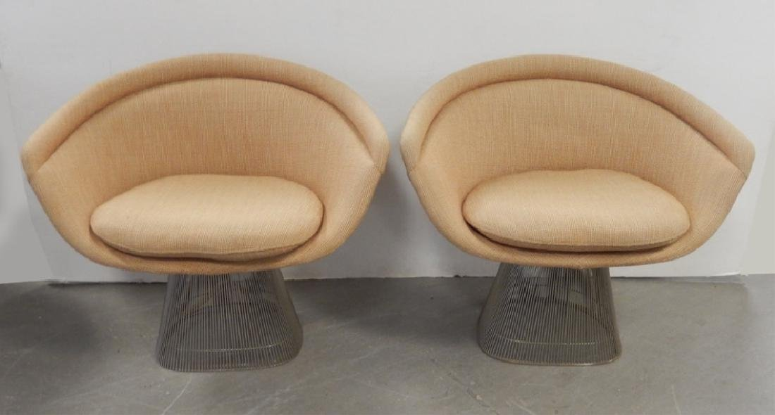 Pair of Warren Platner Knoll Furniture lounge chairs