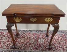 Statton Chippendale style cherry game table