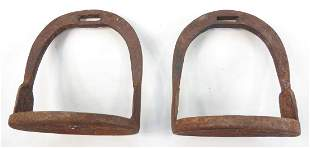 A PAIR OF CHINESE STIRRUPS