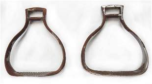 A PAIR OF IMPERIAL RUSSIAN CAVALRY STIRRUPS