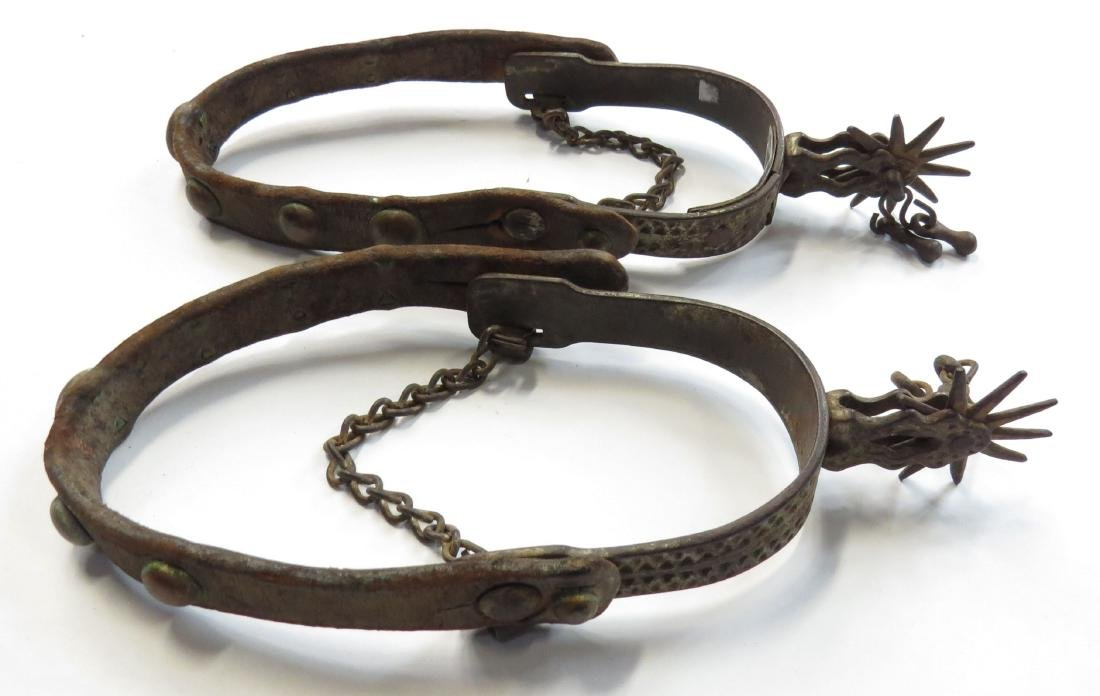 A PAIR OF WESTERN SPURS
