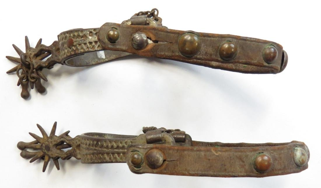 A PAIR OF WESTERN SPURS - 3