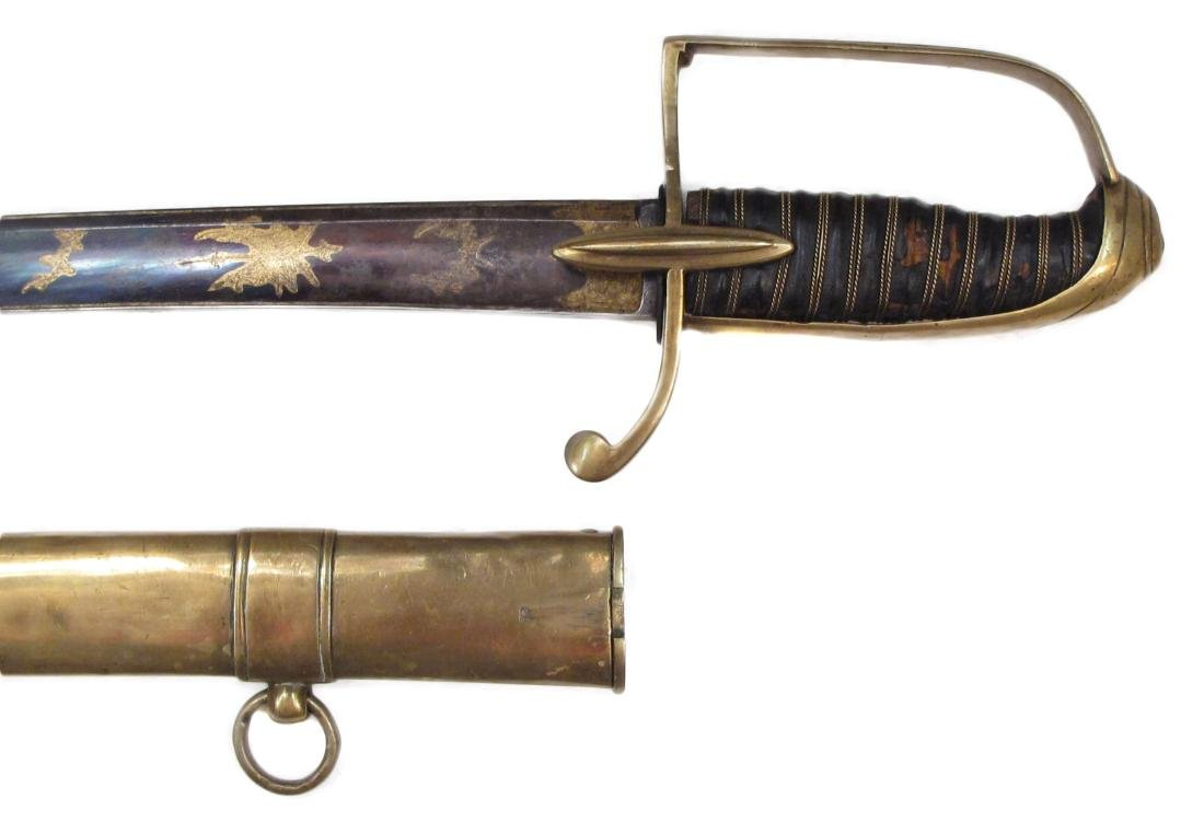A NAPOLEONIC LIGHT CAVALRY OFFICER'S SABER - 9