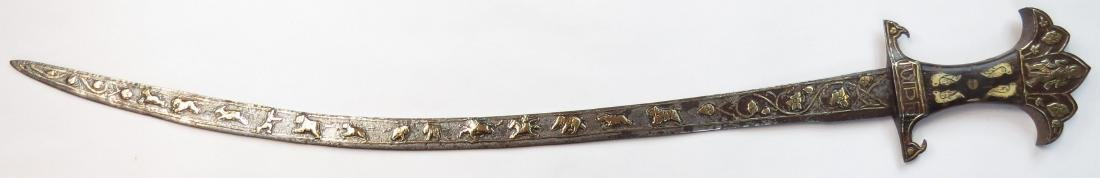 A RARE INDIAN TULWAR SWORD - 4
