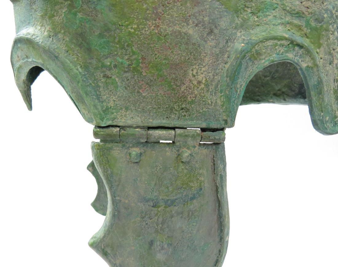 A GREEK BRONZE CHALCIDIAN HELMET - 4