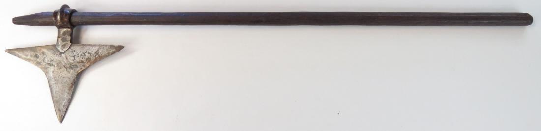 A RARE INDIAN BHIL BATTLEAXE - 3