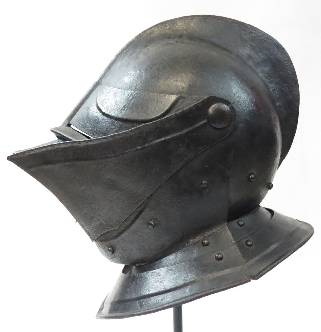A RARE NORTHERN EUROPEAN CLOSE HELMET