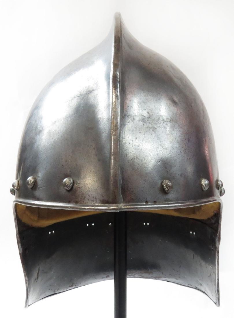 A VICTORIAN-ERA BASCINET HELMET - 2