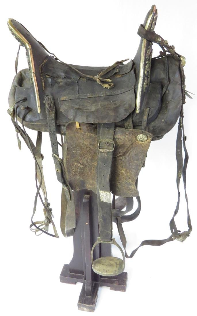 A RARE COSSACK SADDLE AND TRAPPINGS - 2