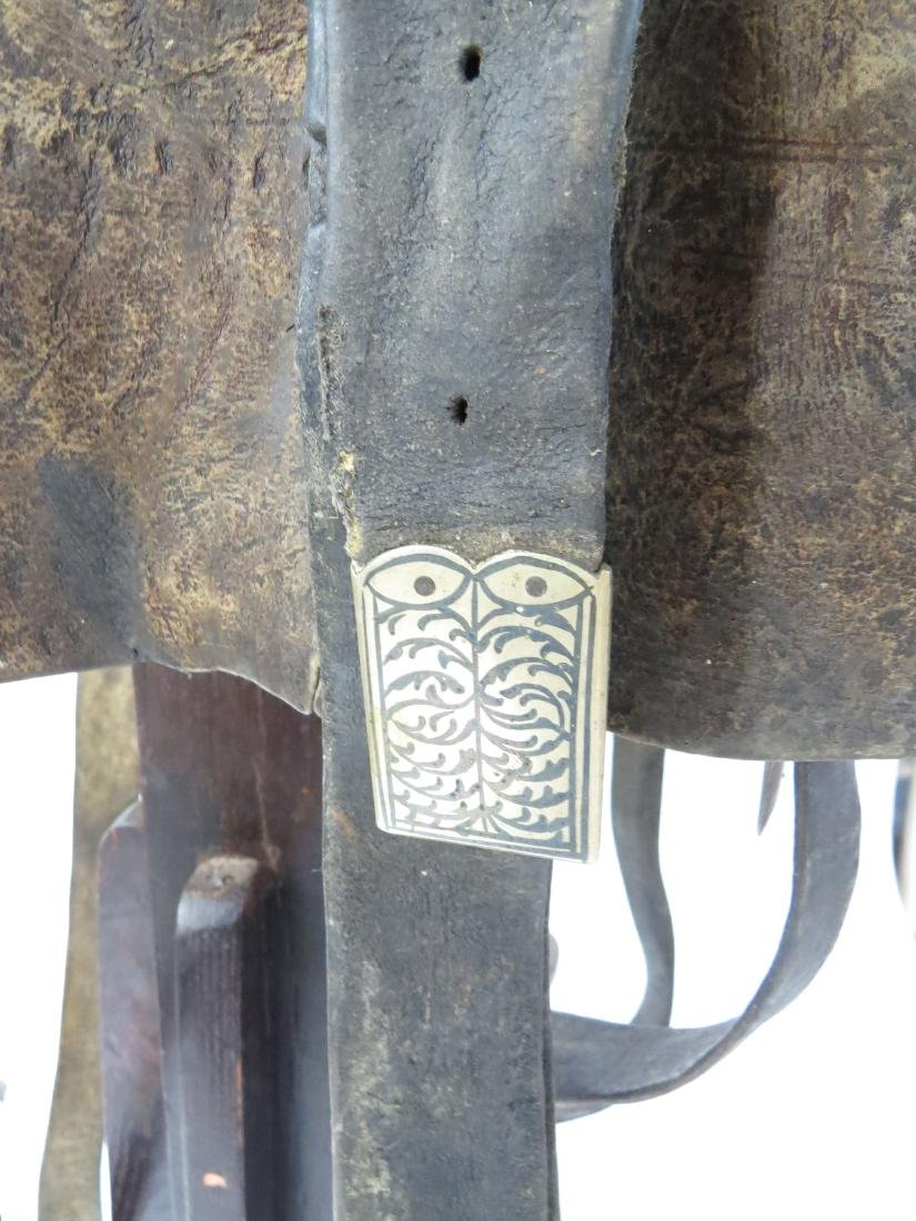A RARE COSSACK SADDLE AND TRAPPINGS - 4