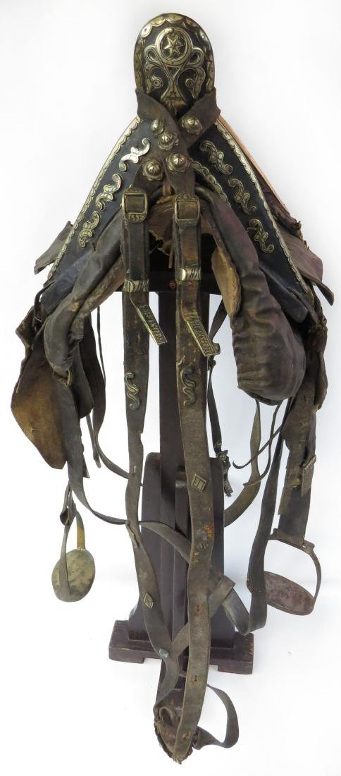 A RARE COSSACK SADDLE AND TRAPPINGS - 5