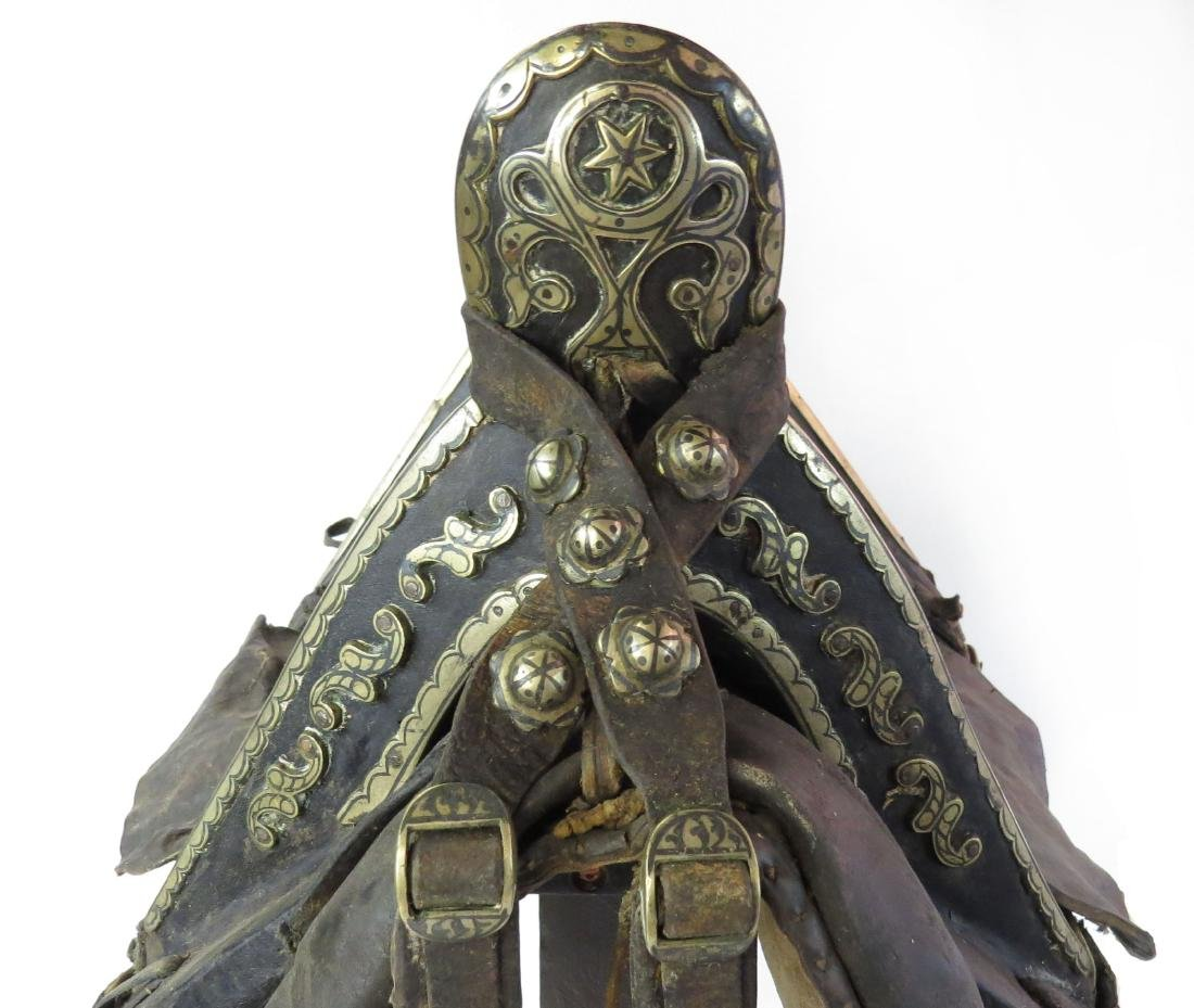 A RARE COSSACK SADDLE AND TRAPPINGS - 6