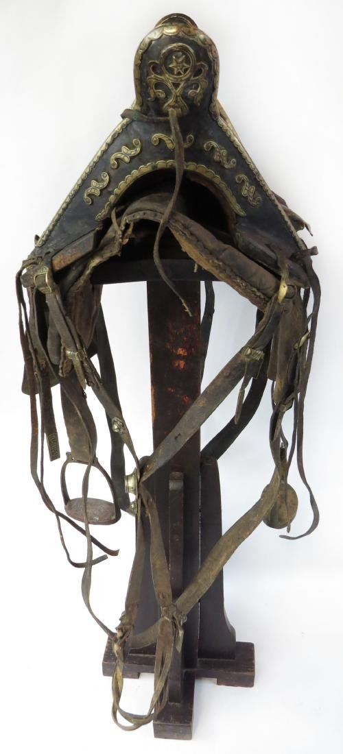 A RARE COSSACK SADDLE AND TRAPPINGS - 7