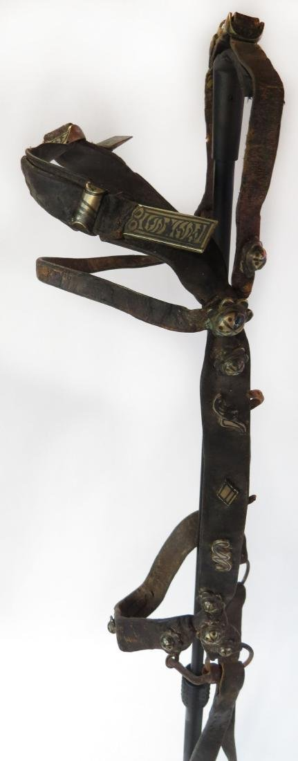 A RARE COSSACK SADDLE AND TRAPPINGS - 9