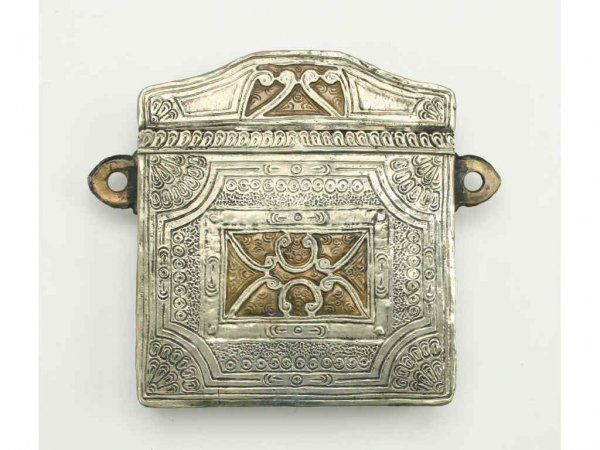 A Moroccan Cartridge Case or Phylactery