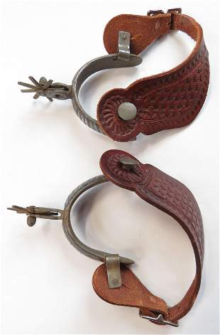 A PAIR OF MEXICAN SPURS