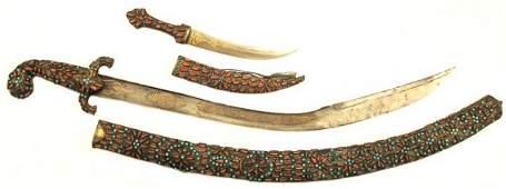 229: A Matched Ottoman Kilic Saber and Khanjar Dagger