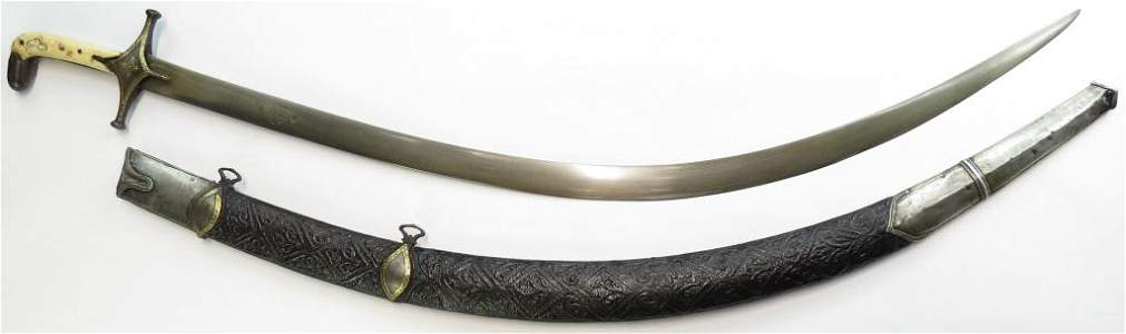A FINE PERSIAN SHAMSHIR SWORD