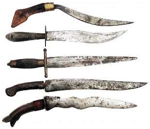 5 FILIPINO FIGHTING KNIVES