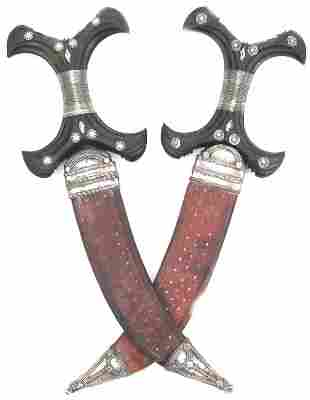 A MATCHED PAIR OF BEJA DAGGERS