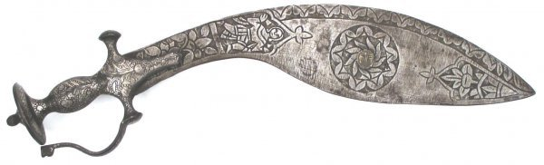 AN ALL-STEEL SHORTSWORD KUKRI