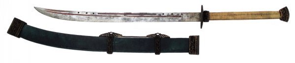 A CHINESE TWO-HANDED SABER SHUANG SHOU DAO - 4