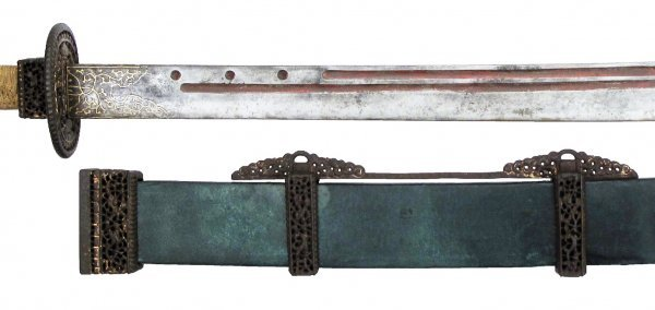A CHINESE TWO-HANDED SABER SHUANG SHOU DAO - 7