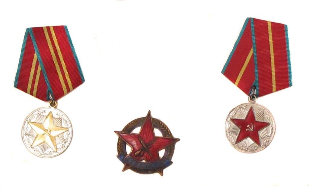 THREE SOVIET-ERA RUSSIAN MEDALS