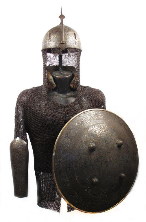 A PERSIAN ZAND DYNASTY SUIT OF ARMOR
