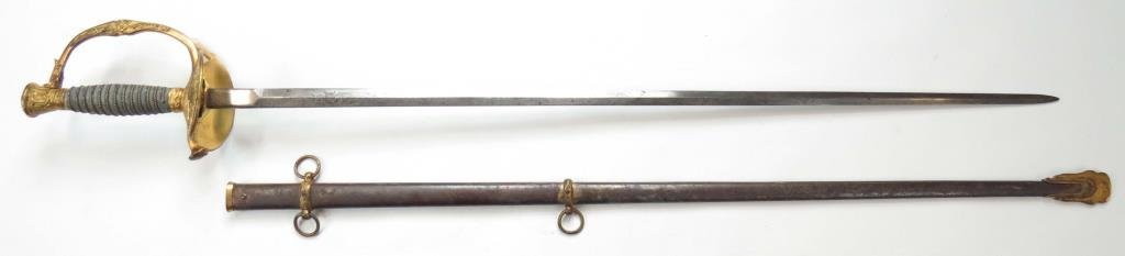 A US M 1860 STAFF & FIELD OFFICERS SWORD - 5