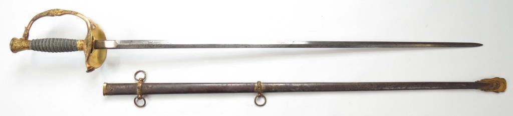 A US M 1860 STAFF & FIELD OFFICERS SWORD - 5