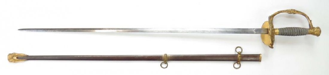 A US M 1860 STAFF & FIELD OFFICERS SWORD - 7