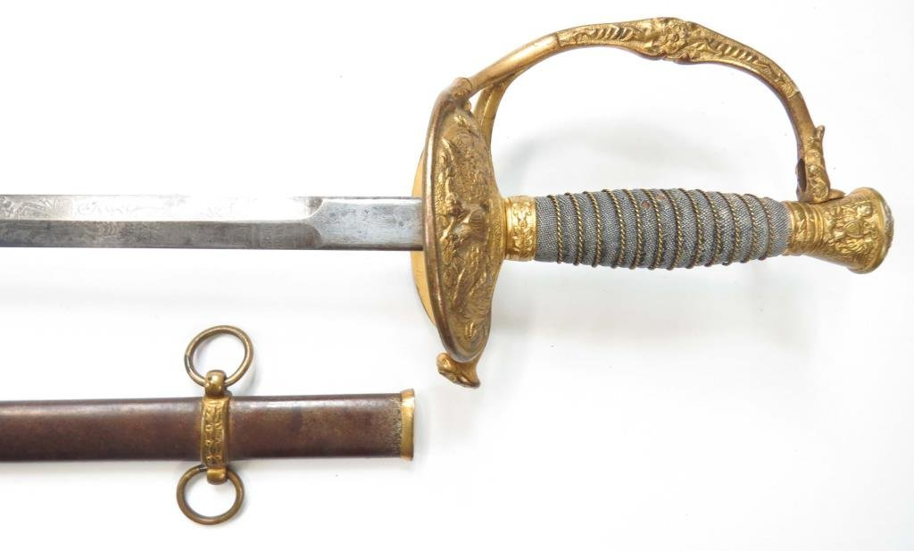 A US M 1860 STAFF & FIELD OFFICERS SWORD - 8