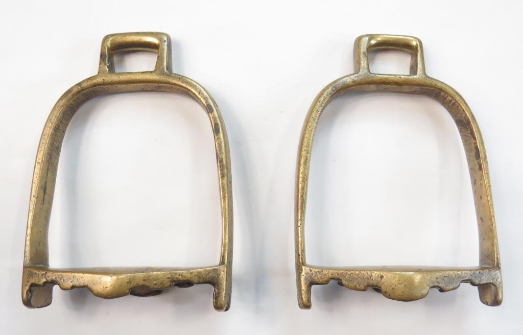 A RARE PAIR OF TURKMEN STIRRUPS
