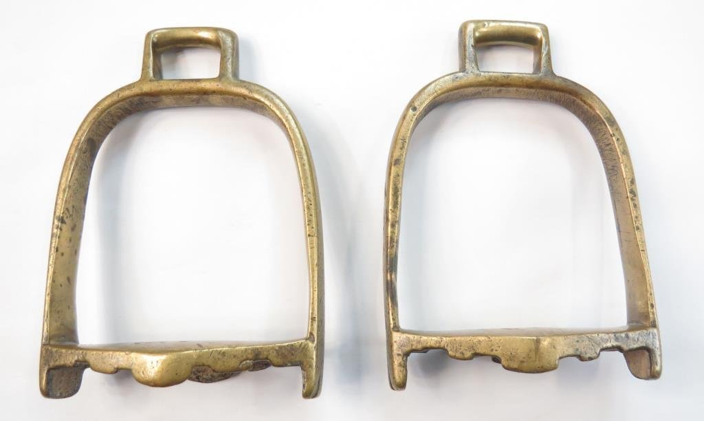 A RARE PAIR OF TURKMEN STIRRUPS - 2