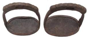 A PAIR OF CHINESE QING DYNASTY STIRRUPS