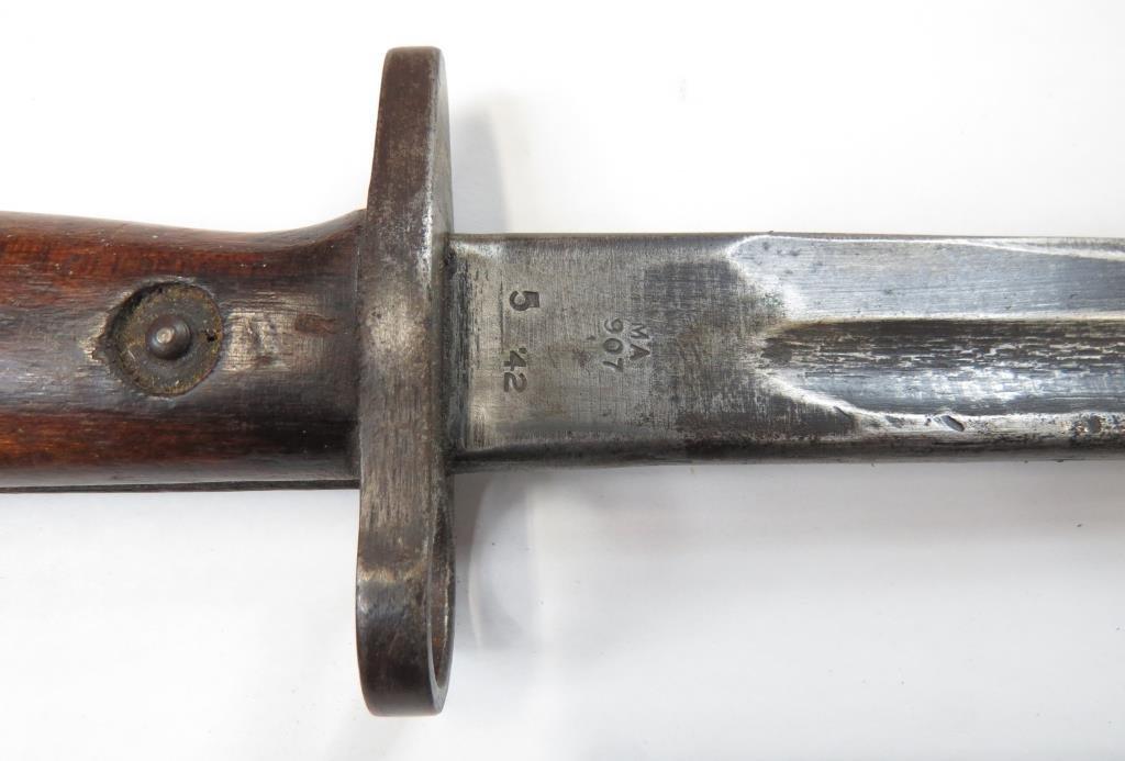 A BRITISH M1907 SANDERSON BAYONET - 8