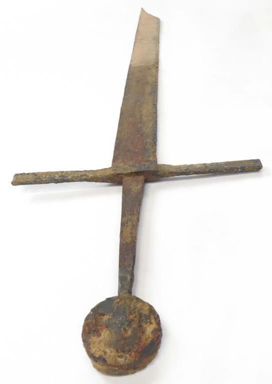 A MEDIEVAL FALCHION SWORD - 3