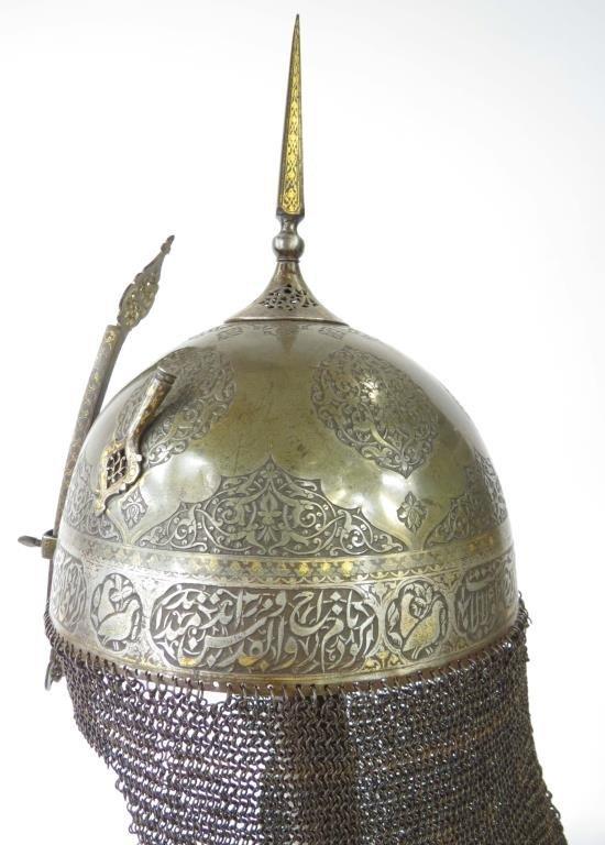 A FINE PERSIAN KULA KHUD HELMET - 10
