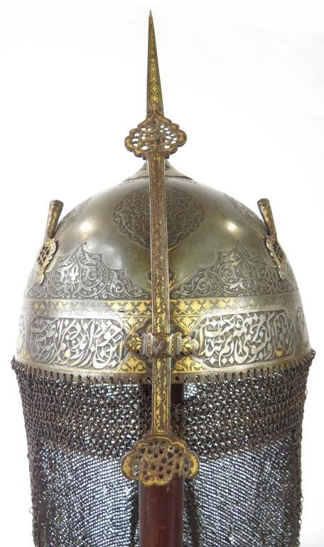 A FINE PERSIAN KULA KHUD HELMET - 2