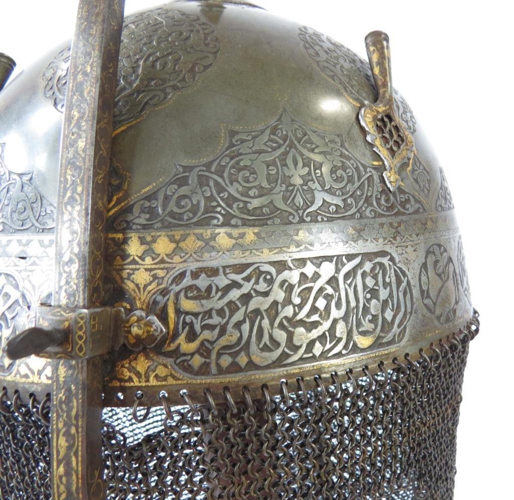 A FINE PERSIAN KULA KHUD HELMET - 3