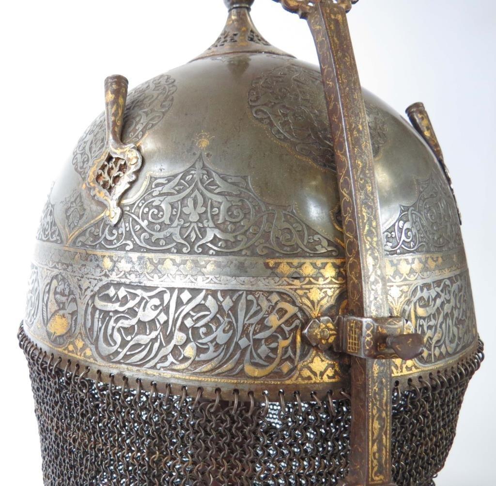 A FINE PERSIAN KULA KHUD HELMET - 4
