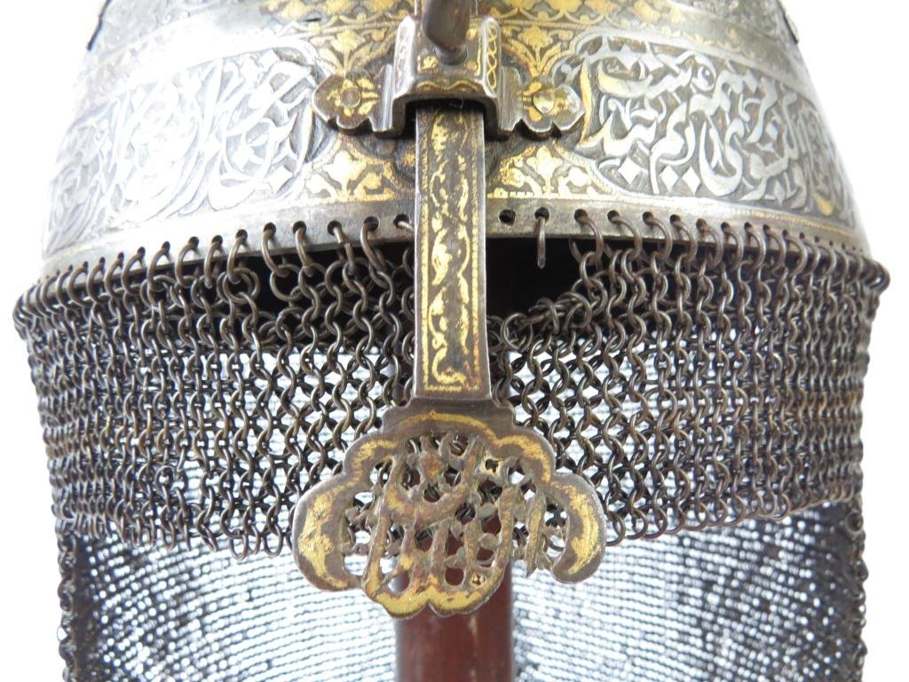 A FINE PERSIAN KULA KHUD HELMET - 5