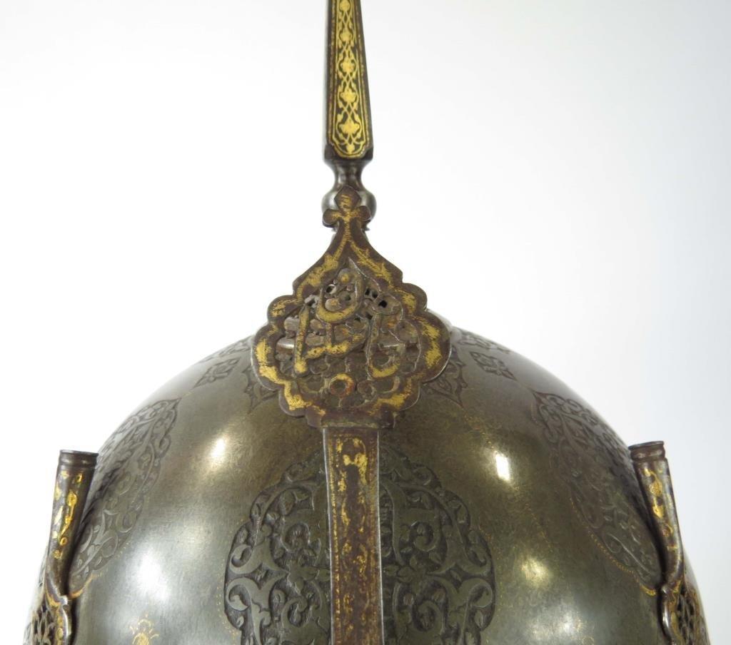 A FINE PERSIAN KULA KHUD HELMET - 7