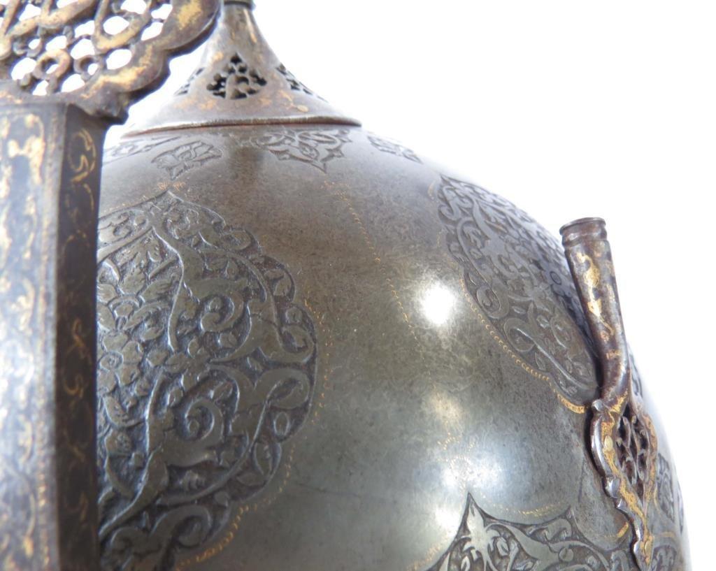 A FINE PERSIAN KULA KHUD HELMET - 8