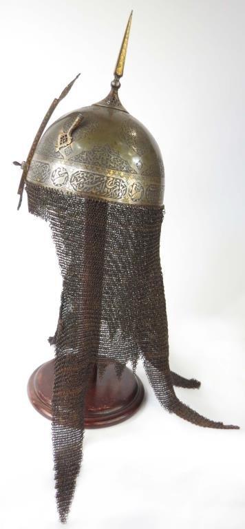 A FINE PERSIAN KULA KHUD HELMET - 9