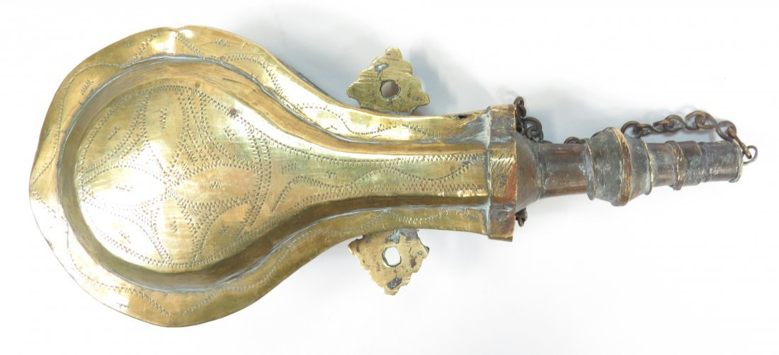A MOROCCAN POWDER FLASK - 2